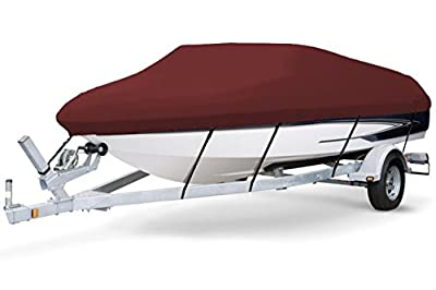 7oz SOLUTION DYED POLYESTER MAROON COLOR STYLED TO FIT BOAT COVER FOR SUN DOLPHIN EXCURSION 10 KAYAK 2017