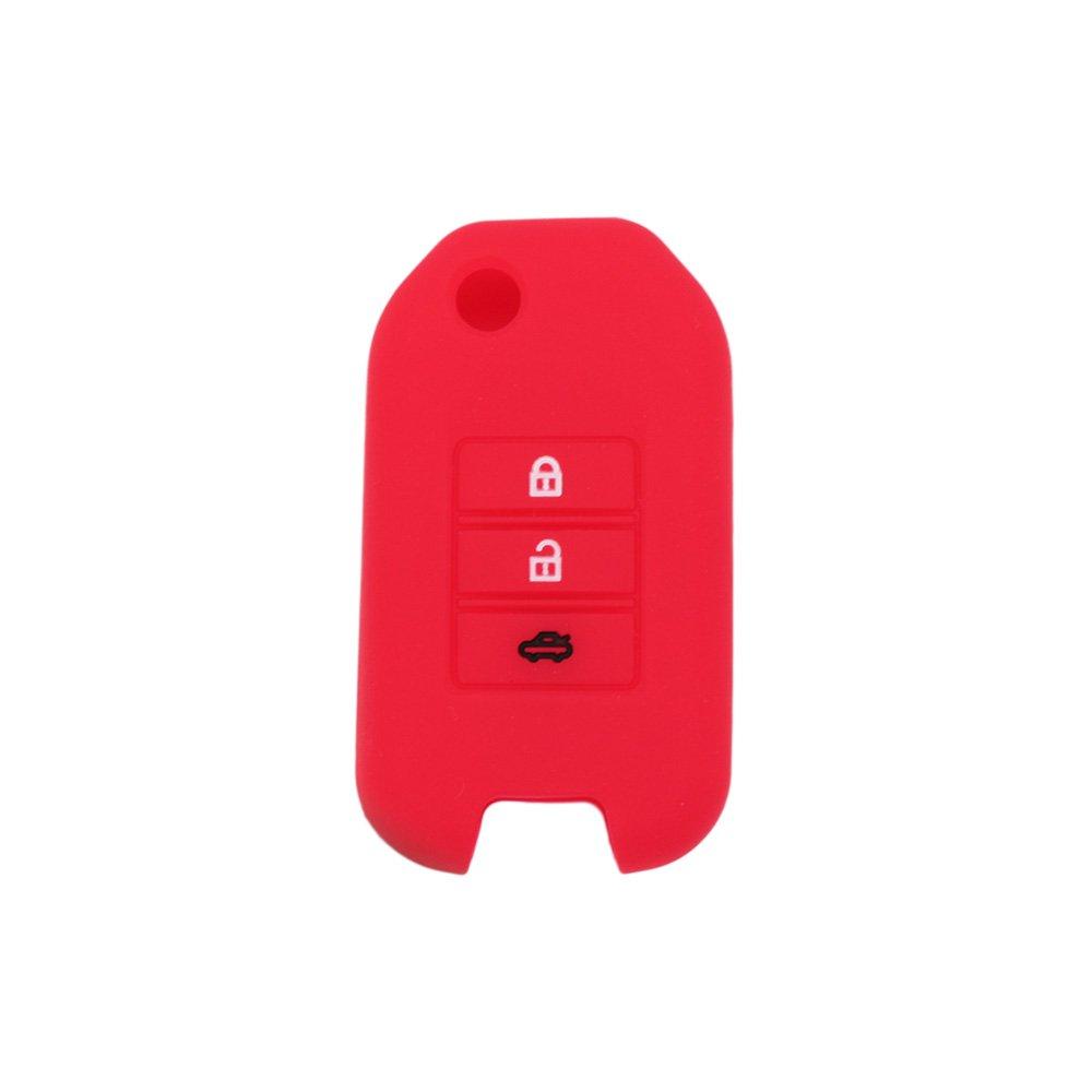 fassport carcasa de silicona Skin Chaqueta Fit para Honda de 3/botones flip remoto clave cv9202