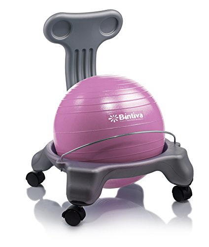 bintiva Ball Chair for Children - Includes Free Air Pump. Keeps The Mind Focused While Promoting A Healthy Posture.