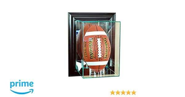 ba515b2a Perfect Cases NFL Wall Mounted Upright Football Glass Display Case