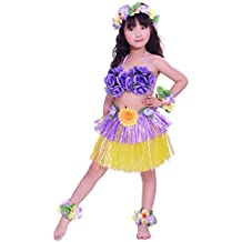 Fighting to Achieve Girls Artificial Hula Costume 7pcs