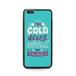 ecenter - diseño en relieve de dibujos animados congeladaEl frío nunca me molestó plastique + cas de TPU couverture for Apple iPhone 6 Plus 6th Generation Teléfono Móvil