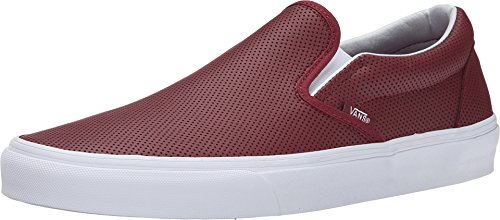 Vans Classic Slip On Unisex Shoes Perf leather Port (13 B(M) US Women / 11.5 D(M) US Men)