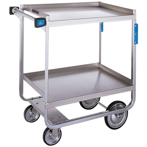 Lakeside 543 NSF Stainless Steel Utility Cart; 700 Lb Capacity, 2 Shelf, 21