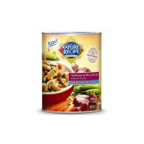 Nature's Recipe Healthy Skin Venison & Rice Recipe Cuts in Gravy Canned Dog Food
