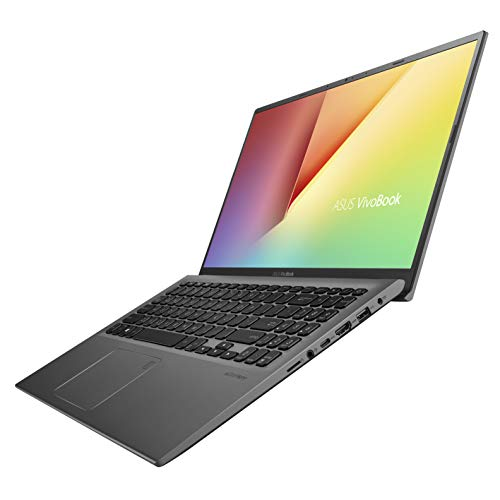 "ASUS Vivobook 15 Thin and Light Laptop, 15.6"" FHD, Intel Core i3-8145U (up to 3.9GHz), 8GB DDR4 RAM, 128GB M.2 SSD, Windows 10 S, F512FA-AB34, Slate Gray"