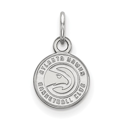 NBA Atlanta Hawks Xsmall Logo Pendant in Rhodium Plated Sterling Silver by LogoArt