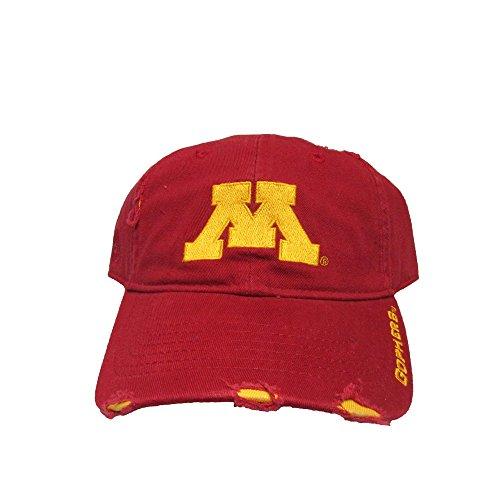 University of Minnesota Golden Gophers Distressed College Team Strap Back Dad Hat Cap
