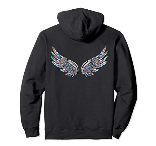 Angel Wings Bohemian Boho Tribal Chick Gift Pullover Hoodie