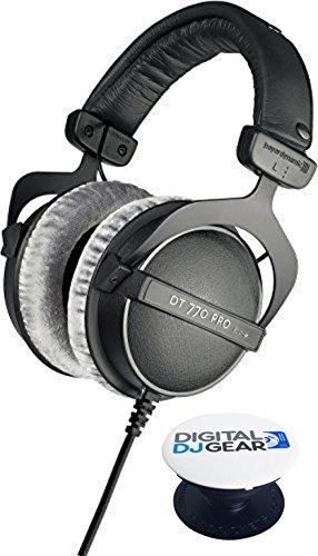 Beyerdynamic DT 770 PRO 80 Ohm closed Studio Headphone - Free Pop Socket