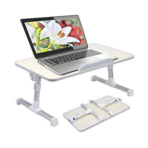 [New!! Lower Version] Portable Table for Laptop, Reading, Breakfast on Bed, Couch, Recliner, Adjustable, Foldable, Notebook, Reading Holder - NeettoTB101S