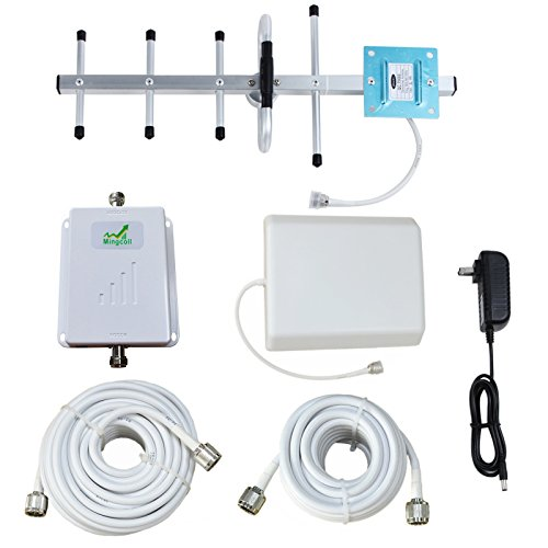Cell Phone Signal Booster 850MHz 2G 3G Band 5 Signal Amplifier with Indoor Panel Antenna (70db) by Mingcoll