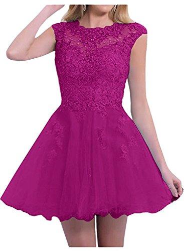 Tanzenkleider Braut Abschlussballkleider Kurzes Fuchsia Festlichkleider Marie Abendkleider Partykleider La Damen 5q6w8t
