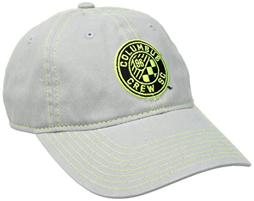 MLS Columbus Crew Adult Women MLS SP17 Neon Logo Adjustable Slouch Cap,Osfa,Gray ()