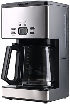SharkNinja CF092 PowerDoF CM6626T 12-Cup Glass Carafe Programmable Coffee Maker, Small, Black Stainless Steel