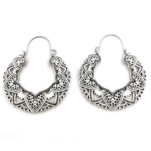 YESMAEA Hollow Floral Pendant Earrings Vintage Drop Dangle Earrings Boho Chic Jewelry for ()