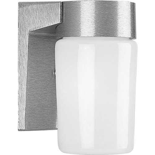 Progress Lighting P5511-16 Wall Fixture with Threaded Opal Glass Shades That Screw onto Fitter with Vapor-Proof Gaskets and Porcelain Sockets, Satin - Fixture Vaporproof Lighting