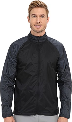 Mens Element Jacket Brooks (Brooks Men's LSD Jacket Black/Asphalt Medium)