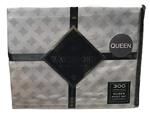 Waterford Elyza Queen Cotton Sheet Set, Pale ()