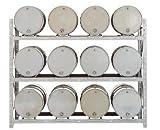 Meco Drum Storage Rack - 12 Drums - Gray