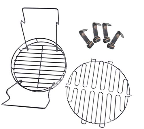 soldbbq A Must- Have Accessory Kit for Owner of The Char-Broil of The Big Easy,Includes Bunk Bed Basket, Leg Rack,Rib Hooks (Charbroil Oilless Turkey Fryer)