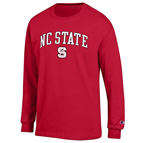 Elite Fan Shop NC State Wolfpack Long Sleeve Tshirt Varsity Red - XXL