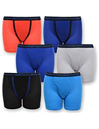 Boys 6 Pack Breathable Boxer Brief Underwear (Medium...