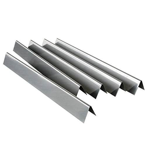 Onlyfire Gas Grill Replacement Stainless Steel Flavorizer Bars/Heat Plate for Weber 7537, Set of 5, 22 - Heat Inch Shields 2.25