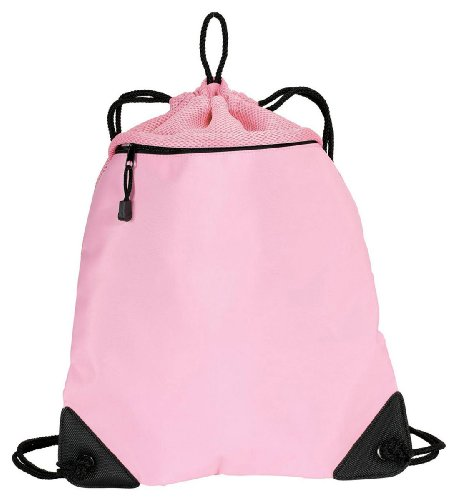 Port Authority Cinch Pack with Mesh Trim, Bright Pink, One Size ()