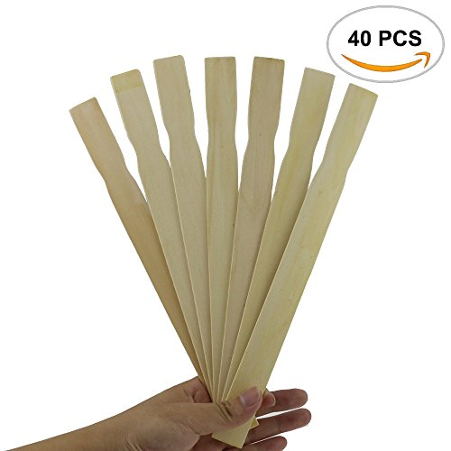 40PCS Fyess Paint Stir Sticks 12 Inch Paddles, Stir Paints, Wax , Mix Epoxy, Resin, Kids Craft or Hobby Projects, Library or Garden Marker.