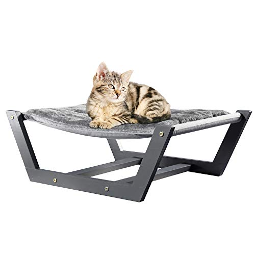 Vea pets Luxury Cat Hammock – Large Soft Plush Cat Bed for Indoor Cat | Holds Small to Medium Size Cat or Small Dog | Attractive & Sturdy | Easy to Assemble Cat Furniture