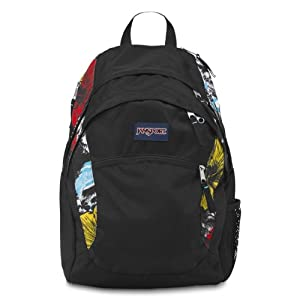 JanSport Wasabi Backpack, White Multi Kono