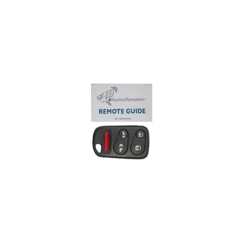 2001 2004 Honda Odyssey Keyless Entry Remote Fob Clicker With Do It Yourself Programming and eKeylessRemotes Guide