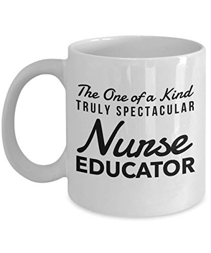 Dozili Funny Coffee Mug - Nurse Educator Gifts - The One of a Kind Truly Spectacular Mug, Novelty Appreciation Thank You Gift Ideas For Christmas or Birthday, 11 Oz, White (Sienna Soup)