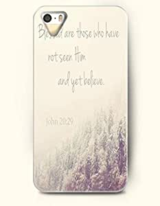 TYH - iPhone 4/4s Case OOFIT Phone Hard Case **NEW** Case with Design Blessed Are Those Who Have Not Seen Him And Yet Believe. John: - Bible Verses - Case for Apple iPhone 4/4s ending phone case