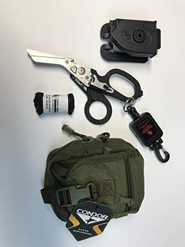 Spec Operator Trauma Medic Raptor EMT Shears and Leash Kit w/Condor Molle Pouch