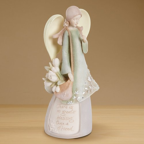Foundations Friend Angel Stone Resin Figurine, 7.5