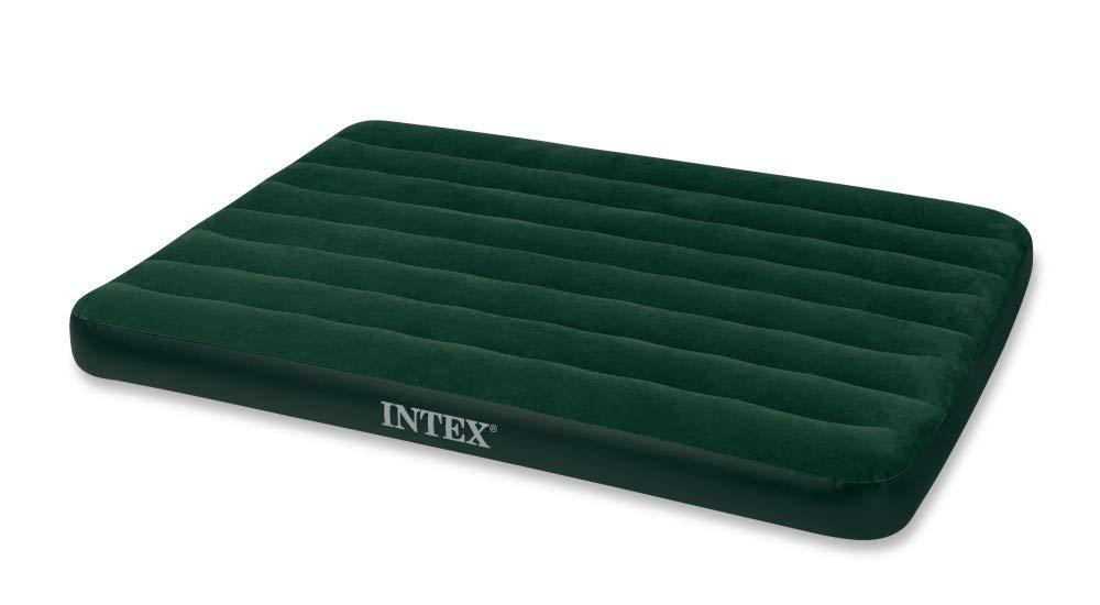 Full Intex Prestige Downy Luftbett 137 x 191 x 22 cm Mit batteriebetriebener Pumpe Gr/ün