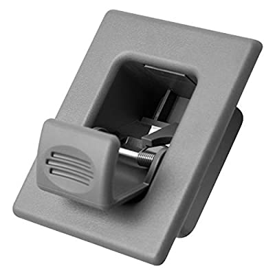 Back Seat Latch Release Handle - Best for Folding Rear Row Bucket Fits 00-06 Silverado, Tahoe, Avalanche, Suburban, Sierra, Yukon, Escalade - Replaces GM 12477414 Button Lock Cover Accessories, Gray: Automotive