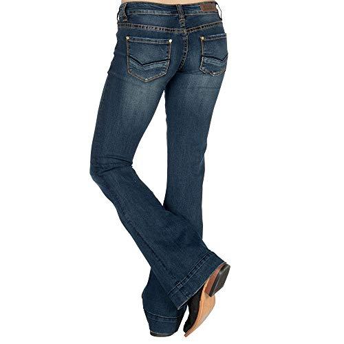 Rock N Roll Cowgirl Womens Cowgirl Dark Vintage Wash Trouser Jean 24 x 32 Denim