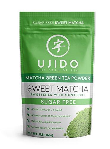 Ujido Japanese Monk Fruit Sweet Matcha (16 Ounce - Powder Fruit Green