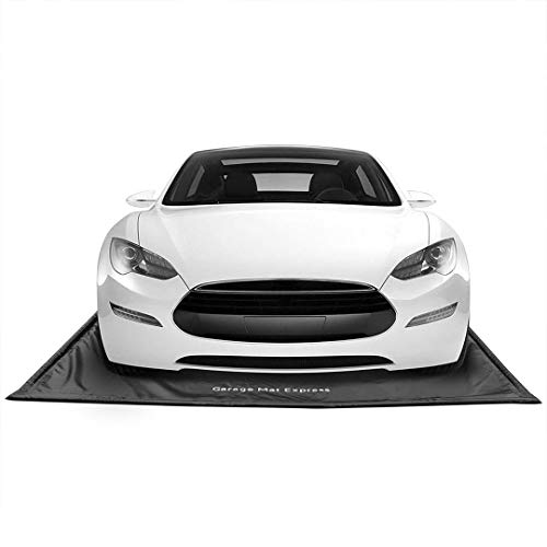 """GarageMatExpress Black 7'9"""" x 18' Midsize/Small SUV Floor Containment Mat for Snow, Mud, Ice"""