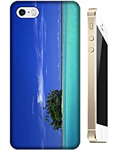 Beautiful Beach With blue sky and ocean small land cell phone cases for Apple Accessories iPhone 4/4S