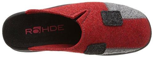 Rohde 2312 - Zapatillas de Estar Por Casa de fieltro mujer Rojo - Rouge (Médoc)