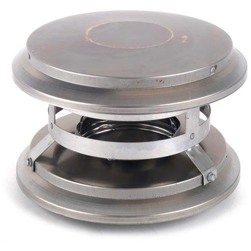 Stainless Steel Fixed Vertical Chimney Cap Twist Lock PelletVent DuraVent