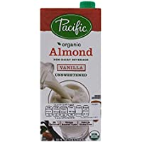 Pacific Foods Bebida de Almendra Sabor Vainilla sin Azúcar, 946 ml