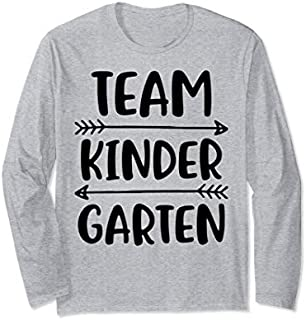 Team Kindergarten Teacher Student Funny Back To School Gifts Long Sleeve T-shirt | Size S - 5XL