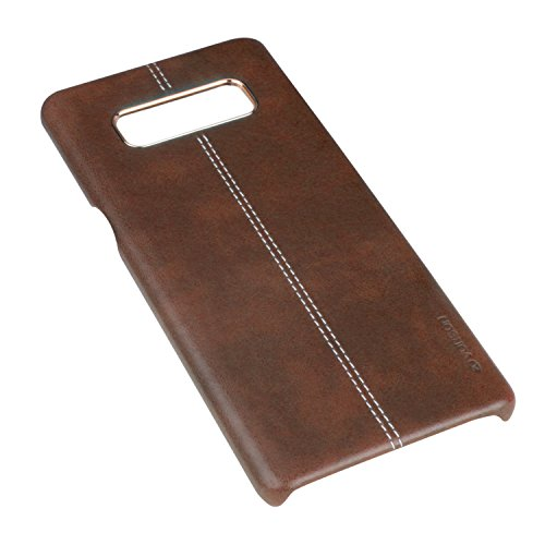 Galaxy Note 8 Case, Vorson PU Leather Slim Fit Cover [Wireless Charging Compatible] [Scratch Resistant] [Shockproof] Snap On Hard Shell for Samsung Galaxy Note 8 (Brown) ()