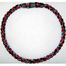 """NEW! 18"""" Kids Size Red & Black Tornado Necklace With Case"""