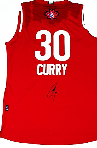 cheap for discount 038a8 562a1 AUTOGRAPHED Stephen Curry #30 NBA All-Star Game TEAM WEST ...